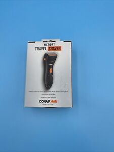 Conair MAN Wet/Dry Travel Shaver Battery Operated Trimmer Lightweight Groomer