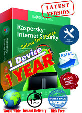 AntiVirus Kaspersky Internet Security 1Dev/1Y - 2020 - Fast Delivery - Global -