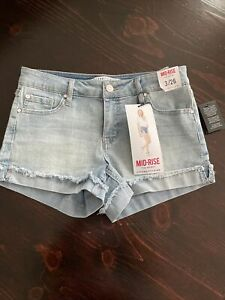 Celebrity Pink Mid-Rise Shorts The Honey / Distressed / Size 3/26 / NWT*