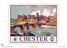 Chester Cheshire de estilo vintage y retro Arte Cartel Publicidad Riel De Viaje De Ferrocarril