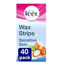 VEET Wax Gel Strips for Sensitive Skin Bikini Legs Arms Hair Removal Pack of 40