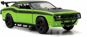 1/32 Jada Dodge Challenger SRT Vert Fast & Furious Neuf Boîte Livraison Domicile