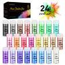 24 Colors Mica Powder Kit Pigment Powder Soap Making Colorants Set for Nail Art