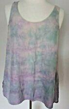 NEW Vince shirt satin tank tanktop cami sand grey pink purple blue sea foam S M