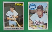 L👀k!! 1970 & 1969 TOPPS Baseball Cards HARMON KILLEBREW  NICE!