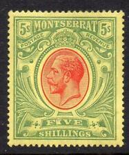 Montserrat 1914. 5/- red & green/yellow. LMM SG48 Cat. £90