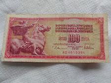 Banknoten 100 Dinar Narodna Banka Jugoslavije von 1981