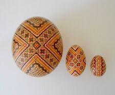 Ostrich Goose Chicken Egg Hand painted by Romanian Artist Liliana Nichitean