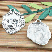 Alloy metal Tibetan Silver color lion  design pendant 3pcs EF0072