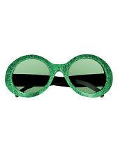 Partybrille Jackie rund glitter bunt Fasching Karneval