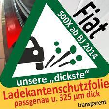für Fiat 500X / 500 X Ladekantenschutz Folie Lackschutzfolie Schutzfolie 325µm