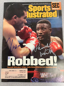 Julio Cesar Chavez Signed Sports Illustrated Mag Boxing Auto JSA 9/1993 Whitaker