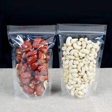 Clear Food Packaging Plastic Stand Up Pouch Reclosable for Zip Zipper Bags Lock