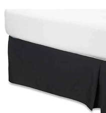 Smoothweave 14-Inch Tailored Queen Bed Skirt in Black