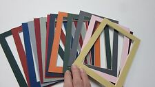 Picture Frame Mats set of 15 mats Assorted colors 5x7 for 4x6 photos