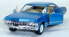 1967 Chevrolet Impala blau Sammlermodell ca. 12,5cm / 1:43 Neuware von KINSMART