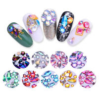 300Pcs Acrylic Mixed Nail Rhinestone Crystal Flat Back 3D Nail Art Decoration