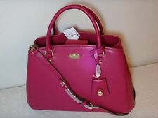 NWT Coach Margo Carryall SML Leather Crossbody Shoulder bag, Cranberry