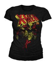 Marvel Comics - Wolverine Distressed X-Men Damen T-Shirt Schwarz (S-L)