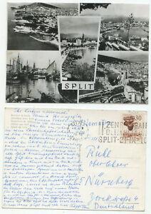 01382 - Split - Jugoslawien - Ansichtskarte, gelaufen nach Nürnberg