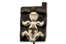 """Remarkable Punu Door with Relief Carving 24"""" - Gabon - African Art"""