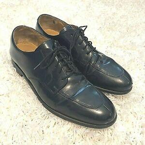 Cole Haan Mens Shoes Size 12D Calhoun Lace Up Black Leather Oxfords C00588