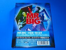 3 DISC JAPAN MR BIG RAW LIKE  SUSHI 114 LIVE AT BUDOKAN 2014 K2HD HQ CD BLU RAY