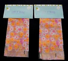 2 Large Easter Gift It Bags Daisy Bunny Decorative Basket Wrap 24x24