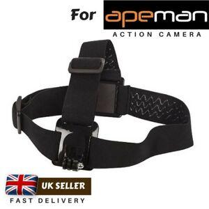 Adjustable Head Strap Mount for Action Camera Apeman A97 A96 A76 A77 A86 A87 A90