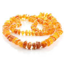 Amber Necklace from Orange Amber Amber by Hand Knotted 36,23 Gram