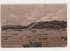 Falmouth Harbour Cornwall Vintage Postcard 698b