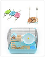 1×Pet Hamster Toys Swing Funny Hanging Gadget Wooden Bird Cage Accessories Toys