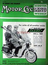 Feb 25 1960 ARIEL 'Leader Twin 250cc'  Motor Cycle ADVERT - Magazine Cover Print
