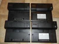 LOT OF 4 Dell Docking Station PR03X PR03X E-Port Replicator USB For Latitude