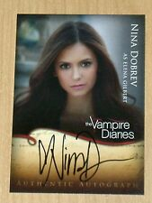 Cryptozoic Vampire Diaries Seas 1 on-card autograph Nina Dobrev Elena Gilbert A1