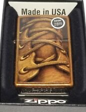 ZIPPO Full Size Toffee BROWN BOOT LACES Classic Windproof Lighter! 28672