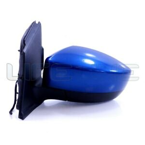 17 18 19 Ford Escape Passenger Side Power Door Mirror Blue Lightning OEM Signal
