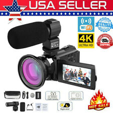 US Andoer 4K 48MP WiFi Digital Video Camera 16X Zoom IR Night Camcorder+Lens+Mic