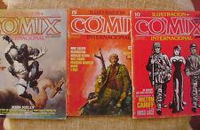 Comix Internacional,Ilustración +,Toutain Editor, 1981, 82 y 83, no. 10, 19 y 29