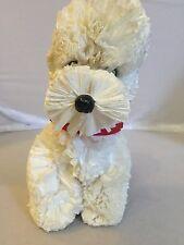Vintage Ruffled Plastic White Poodle Novelty Dog 1950's Rare
