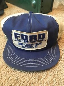 Vintage Ford Tractors Patch K-Brand Snapback Mini-Cassia Equip. Heyburn, ID.