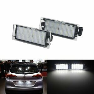 2pcs Canbus LED License Number Plate Light Fit Renault Clio Espace Trafic Twingo