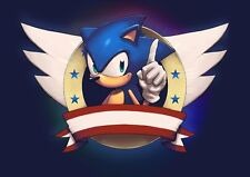 Sonic The Hedgehog Poster Print A4 260gsm