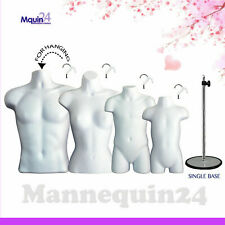 4 Torso Forms White Male Female Child Toddler Body Forms With 1 Stand Amp 4 Hangers