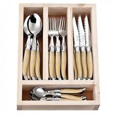 NEW Laguiole Jean Neron Cutlery Set 24 Piece - Light Horn