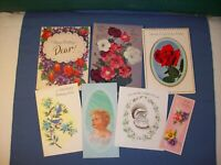 RUST CRAFT Greeting Cards vintage lot  misc used