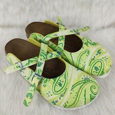 BIRKI'S Paisley Floral Clogs Double Straps Sandals Flip-Flop Sz 42