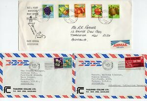 New Zealand 3 x AIR MAIL covers (blank on reverse)