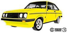 Ford Escort RS2000  MK 2 - 2Door - Yellow