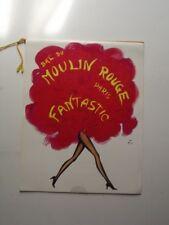 1972 BAL DU MOULIN ROUGE FANTASTIC - PARIS SOUVENIR BOOKLET